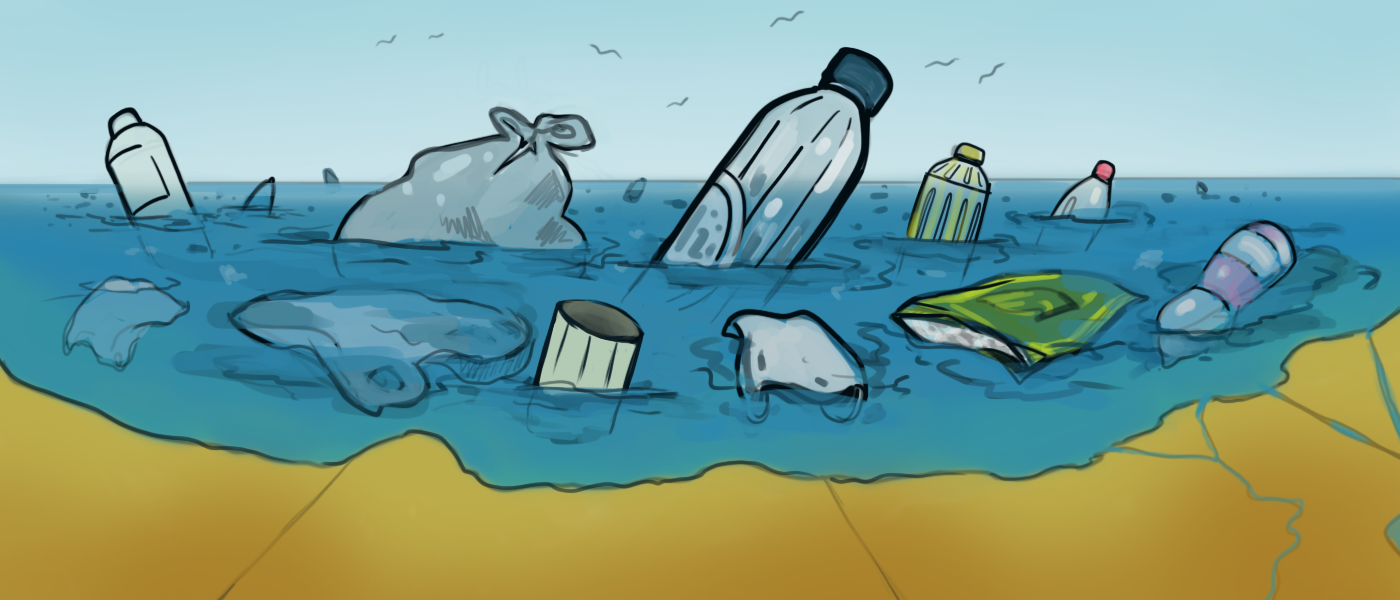Artistic Drawing Powerful Plastic Pollution Drawing